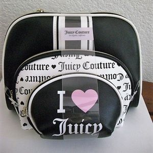 Juicy Couture 3pcs Travel Cosmetic Makeup Bags